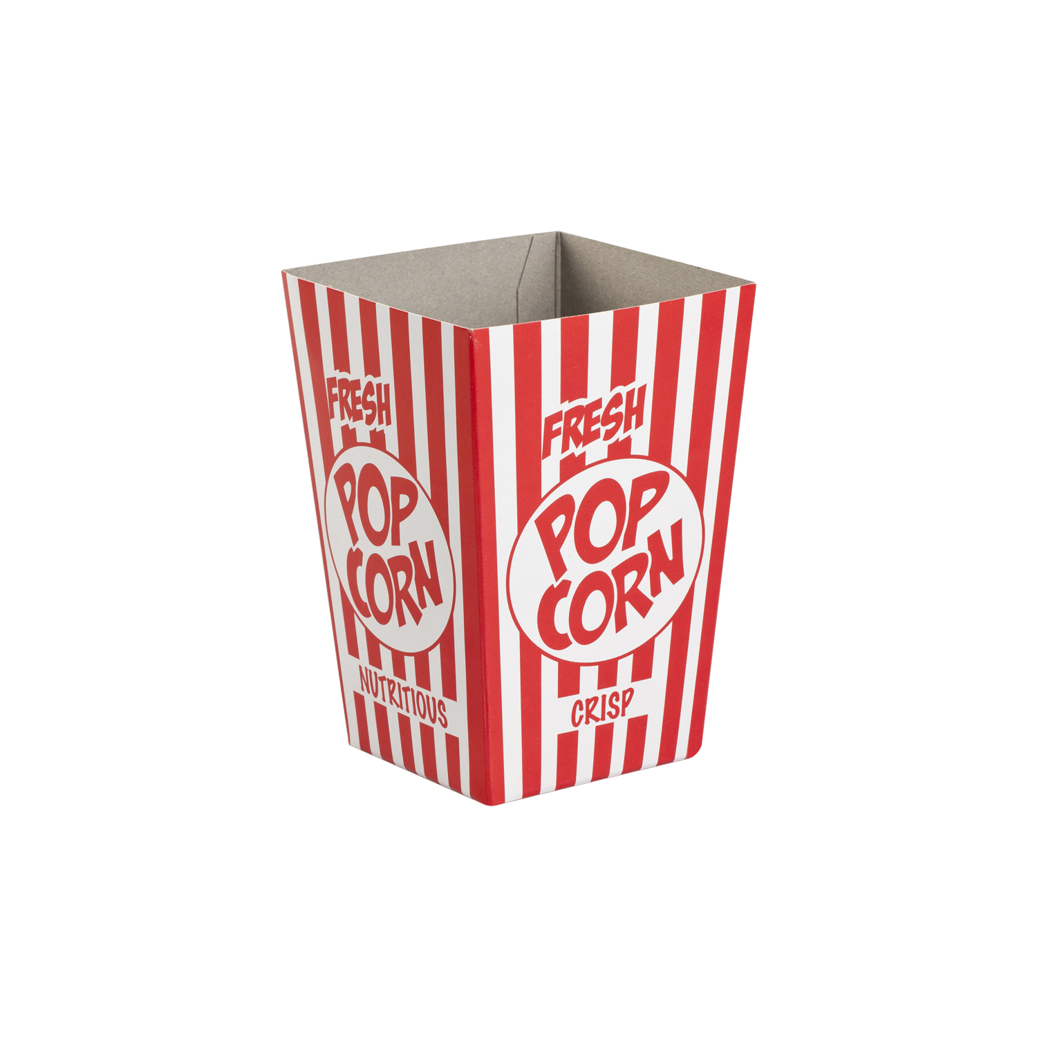 Red and White Striped Small Popcorn Box | Merrypak