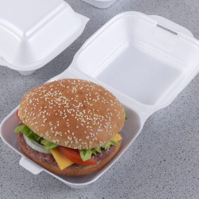 Polystyrene Fast Food Boxes